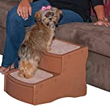 Pet Gear Easy Step II Pet Stairs - 2-step for Cats and Dogs up to 75-pounds - Light Cocoa