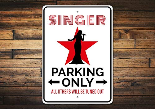 Dozili Singer Gift Singer Parking Sign Talent Show Sign Singer Decor Singer Sign Superstar Gift Music Major Gift Quality Aluminum 12