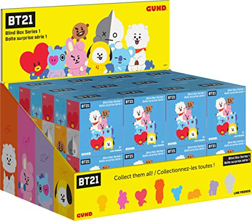 GUND LINE Friends BT21 Blind Box Series #1 Mystery Plush, 3""