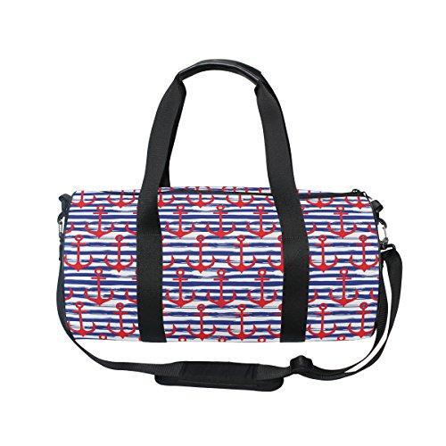 COOSUN ancore su sfondo a righe borsa a tracolla pratica