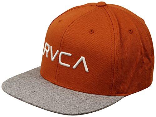 Star Rvca - RVCA Men's Twill Snapback Hat, Dark Rust, EA