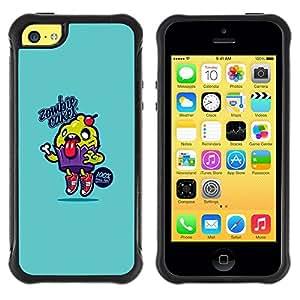 """Pulsar iFace Series Tpu silicona Carcasa Funda Case para Apple iPhone 5C , Azul de la magdalena de Alimentos Cocina texto"""""""