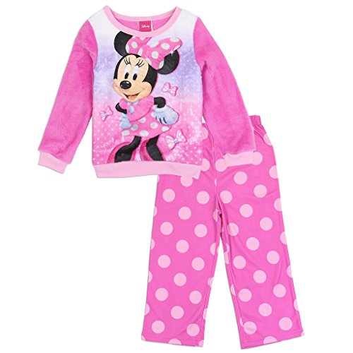 Minnie Mouse Disney Little Girls' Toddler Luxe Plush Pajama Set (3T) -