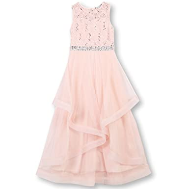 c12a688e95 Speechless Girls  Big 7-16 Tween Maxi Dress with Wide Ribbon Hem Formal  Dance