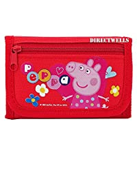 Peppa Pig Character Authentic Licensed Children Trifold Wallet (Red)