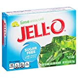 Jell-O Sugar-Free Lime Gelatin Mix 0.6 Ounce Box (Pack of 6)
