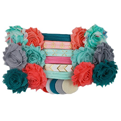 Coral Reef   Mini DIY Headband Kit   Makes 12 Single Or 6 Double Headbands    Baby Shower Headband Station   Fashion Headbands For Birthday Party U0026 Baby  ...