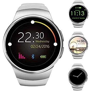 SEPVER Kingwear KW18 Bluetooth Smart Watch phone 1.3 inch IPS Round Touch Screen with SIM Card