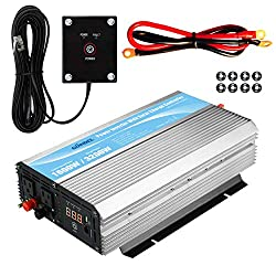 GIANDEL 1600W Power Inverter 12V DC to 110V 120V AC with 20A Solar Charge Controller and Remote Control and Dual AC Outlets & 2.4A USB Port for RV Truck Solar System