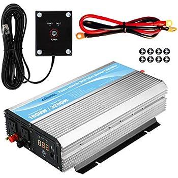 Amazon Com Giandel 1600w Power Inverter 12v Dc To 110v