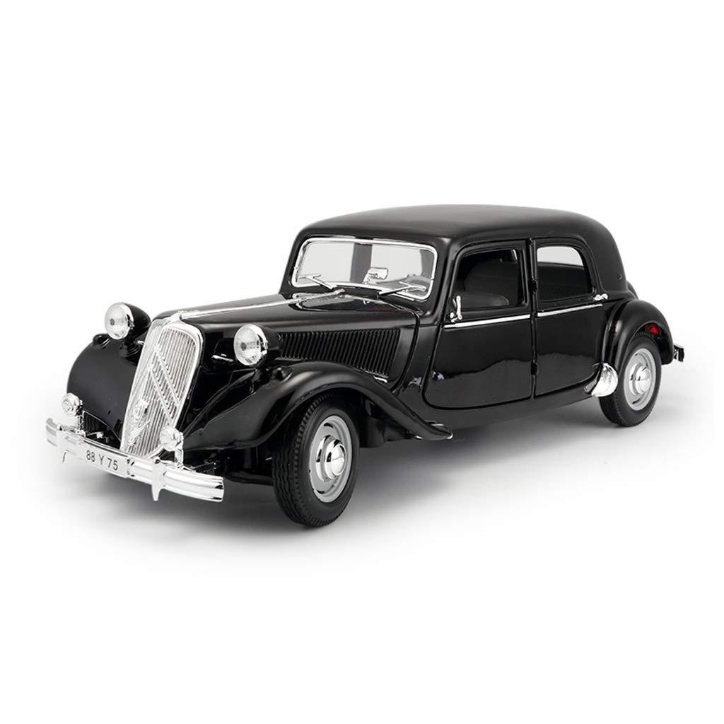 LIUFS-Alloy Car Citroen 1:18 Simulation Alloy Model Retro Classic Car Collection Gift (Color : Black)