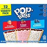Kellogg's Pop-Tarts Variety Pack - Toaster Pastries for Kids, Frosted Strawberry, Frosted Blueberry, Frosted Cherry