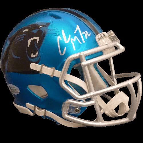 b4d540d88 Amazon.com  Christian McCaffrey Autographed Signed Auto Carolina Panthers  Blaze Alternate Mini Helmet Beckett - Certified Authentic  Sports  Collectibles