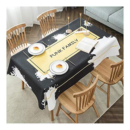 A 1.4m1.8m HQQ Nordic Nappe Tissu Coton Et Lin Petits Frais étanche Rectangulaire Table Basse Pad Salon Décoration (Couleur   A, Taille   1.4m1.8m)