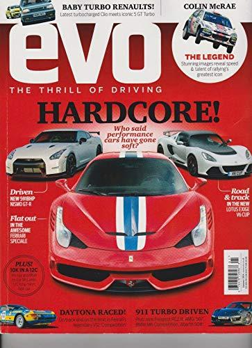 (EVO MAGAZINE UK January 2014, The Thrill Of Driving, HARDCORE!, DAYTONA RACED!. )