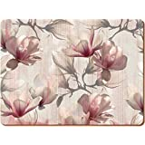 Creative Tops Magnolia Premium Cork-Backed Placemats, Wood, Pink, 6-Piece by Creative Tops