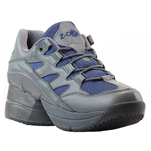 Z-CoiL-Pain-Relief-Footwear-Mens-Freedom-Slip-Resistant-Enclosed-CoiL-Navy-Leather-Tennis-Shoe