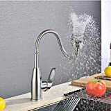 304 Stainless Steel Tube And Double Universal Rotary Kitchen Faucet Vegetable Washing Basin Water Faucet Washing Pool,B