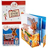 Elf on the Shelf Reindeer Pet with Polar Patterned Christmas Outfit and Gift Box