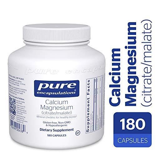 Pure Encapsulations - Calcium Magnesium (Citrate/Malate) - Hypoallergenic Calcium Supplement with Magnesium - 180 - Magnesium Encapsulations