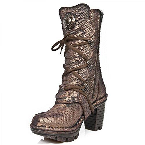 Nuovi Stivali Di Roccia M.neotr005-c26 Gotiche Damen Hardrock Punk Stiefel Schwarz