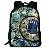 Doctor Dr Who Police Box School Backpacks Student