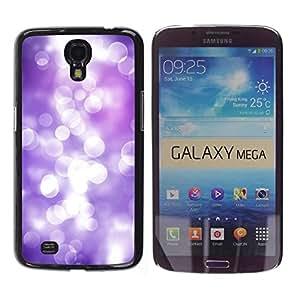 Be Good Phone Accessory // Dura Cáscara cubierta Protectora Caso Carcasa Funda de Protección para Samsung Galaxy Mega 6.3 I9200 SGH-i527 // White Lilac Purple Reflection Bright Focus