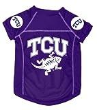 Dog Zone NCAA Pet Football Jersey, Small, Texas Christian University, My Pet Supplies