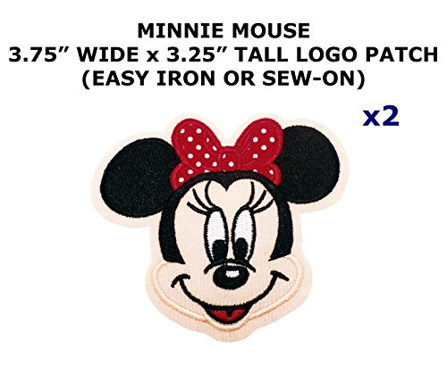 2 PCS Minnie Mouse Cartoon Theme DIY Iron / Sew-on Decorative Applique Patches - Minnie Mouse Diy Costume