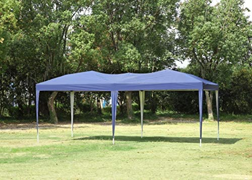 CharaVector Pop Up Canopy Tent 10×20 ft Ez-up Canopies Gazebo Commercial Instant Canopies Outdoor