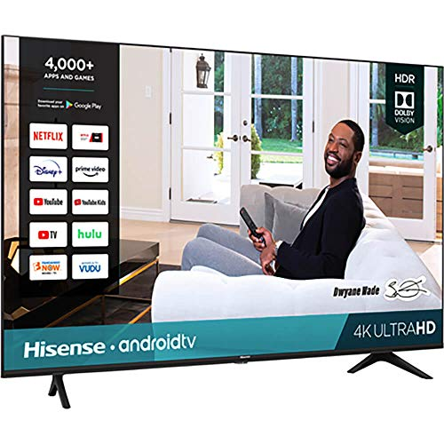 Hisense 43-Inch Class H6570G 4K Ultra HD Android Smart TV with Alexa Compatibility (43H6570G, 2020 Model)