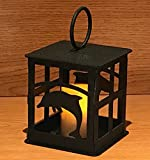 Made in USA Dolphin Themed Steel Candle Lantern