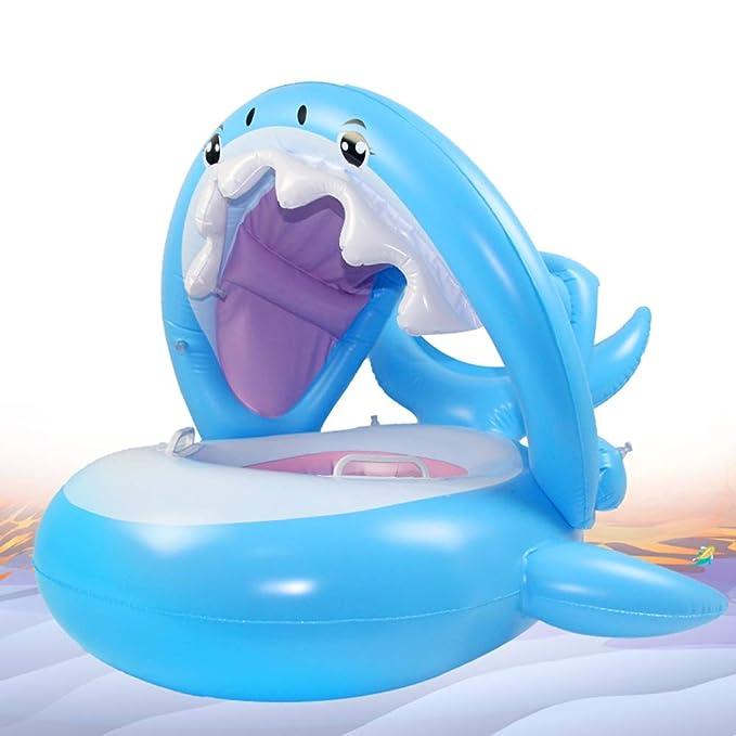 Wishliker Flotador para bebé con Asiento,Respaldo,Techo del Sol ...