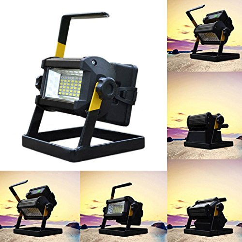 Led Flood Light, Napoo Portable 50W 36 LED Waterproof Rechargeable Worklight Spot Work Lamp Emergency Light For Outdoor Camping, Working, Fishing by Napoo (Image #2)