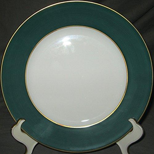 Limoges J Seignolles Diplomate Dark Green Dessert Plate