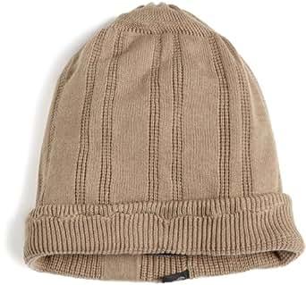 i.am Men's Knitted Beanie Hat, Beige, M/L