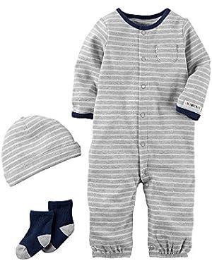 Carter's Baby Boys' 3-Piece Striped Bodysuit Set