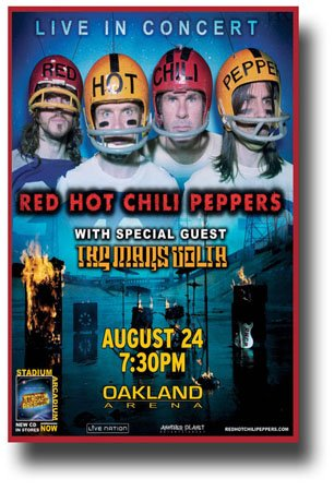 Red Hot Chili Peppers Concert Poster - 6