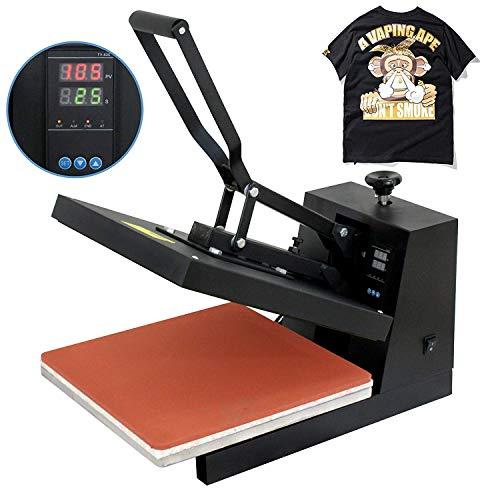 "F2C Pro 15""x 15"" Heat Press Teflon Clamshell Digital Transfer T-Shirt Press Sublimation Transfer Machine Heat Press Machine for T Shirt((15"" X15"" T-Shirt)"