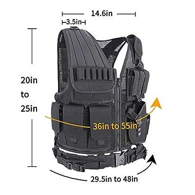 MGFLASHFORCE Tactical CS Field Vest Breathable Adjustable Combat Training Vest