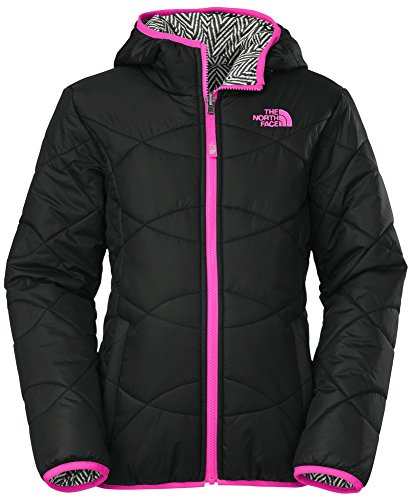 Girl's The North Face Reversible Perrito Jacket Black Size Large by The North Face