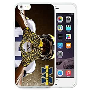 Customized Iphone 4s Case with Ncaa Big Ten Conference Football Michigan Wolveres 7 Protective Cell Phone TPU Cover Case for Iphone 4s Generation White
