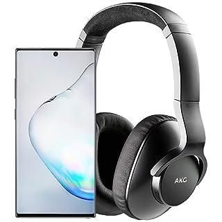 Samsung Galaxy Note 10+ Plus Factory Unlocked Cell Phone with 512GB (U.S. Warranty), Aura Black/ Note10+ w/AKG N700NC M2 Headphones