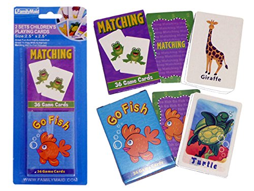 PLAYING GAME CHILDREN 'S 2PC/S36+36 CARD BC 9.5X25CM H , Case of 96