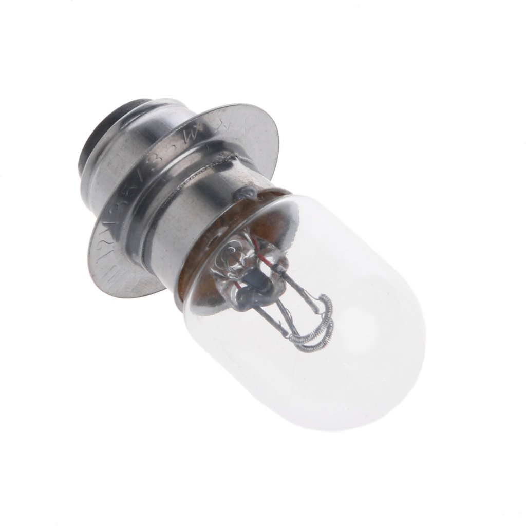 FXCO Bulb For Motorcycle,T19 P15D-25-1 DC 12V 35W White Headlight Double Filament Bulb For Motorcycle