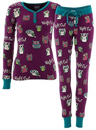 LazyOne Mujer Night Owl T�rmico Pijama Set