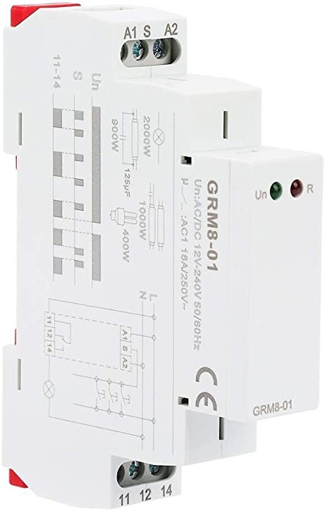 Details about  /Impulse Relay GRM8 Electronic Pulse Relay Retaining Relay Memory Relay AC //
