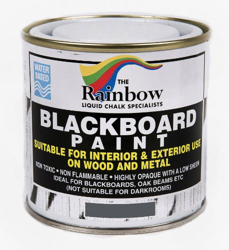 Grey Chalkboard Paint - 250ml Ideal to use with Liquid Chalk and Dry Chalk Sticks Rainbow Chalk Markers Ltd 83015S