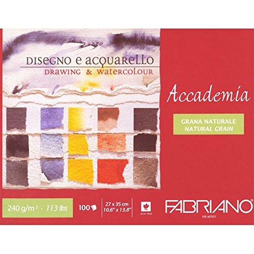 Unbekannt Fabriano 42402735 Zeichenblock, Baumwolle, weiß, 27 x 35 x 1 cm weiß
