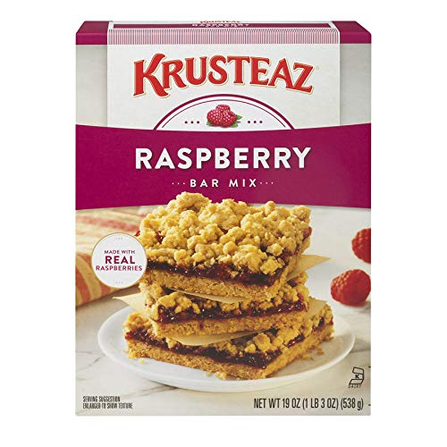 (Krusteaz Raspberry Bars Supreme Mix, 19-Ounce Boxes (Pack of)